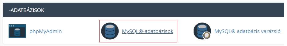 MySQL adatbázisok